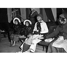 1940s Found Photo Halloween Card - Masked Partiers 3 Photographic Print