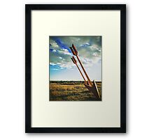 Twin Arrows Framed Print