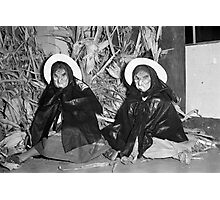 1940s Found Photo Halloween Card - Twin Witches 1 Photographic Print