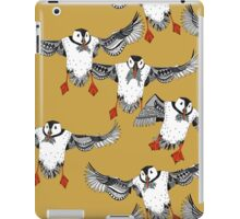 Atlantic Puffins gold iPad Case/Skin