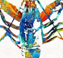 Colorful Lobster Art by Sharon Cummings Sticker