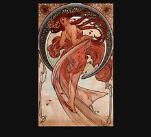 'Dance' by Alphonse Mucha (Reproduction) Womens Fitted T-Shirt
