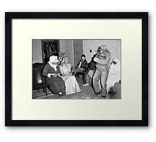 1940s Found Photo Halloween Card - Masked Partiers 5 Framed Print