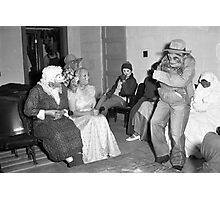 1940s Found Photo Halloween Card - Masked Partiers 5 Photographic Print