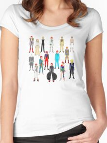 Bowie Scattered Fashion Women's Fitted Scoop T-Shirt