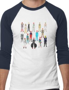 Bowie Scattered Fashion Men's Baseball ¾ T-Shirt
