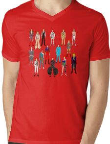 Bowie Scattered Fashion Mens V-Neck T-Shirt