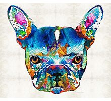 Colorful French Bulldog Dog Art By Sharon Cummings Photographic Print