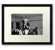 1940s Found Photo Halloween Card - Masked Partiers 6 Framed Print