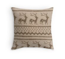 Ugly Christmas Sweater Pattern Throw Pillow