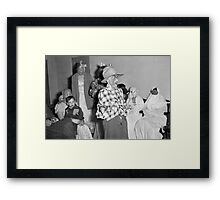 1940s Found Photo Halloween Card - Masked Partiers 7 Framed Print