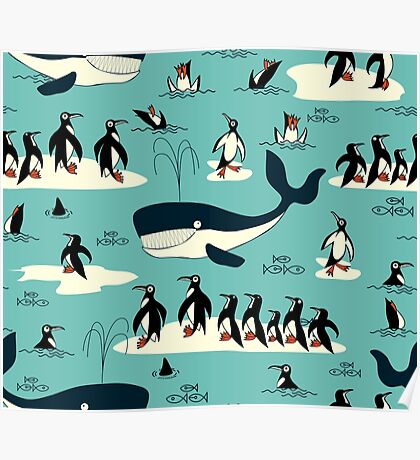 Whales, Penguins and other friends Poster