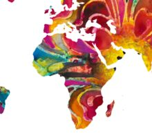 Map of The World 2 -Colorful Abstract Art Sticker