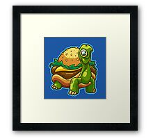 Turtle Burger Framed Print