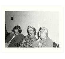 1940s Found Photo Halloween Card - Masked Partiers 8 Art Print
