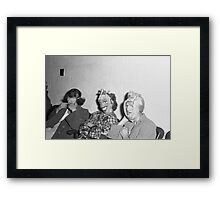 1940s Found Photo Halloween Card - Masked Partiers 8 Framed Print