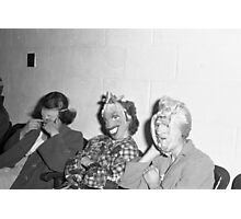 1940s Found Photo Halloween Card - Masked Partiers 8 Photographic Print