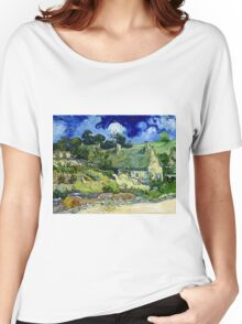 Vincent van Gogh Thatched Cottage at Cordeville Women's Relaxed Fit T-Shirt