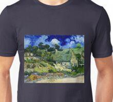 Vincent van Gogh Thatched Cottage at Cordeville Unisex T-Shirt