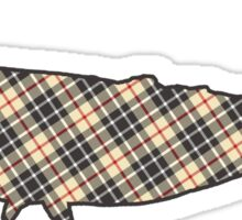 plaid whale  Sticker