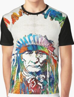 Native American Art - Chief - By Sharon Cummings Graphic T-Shirt