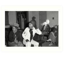 1940s Found Photo Halloween Card - Masked Partiers 11 Art Print