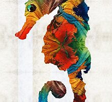 Colorful Seahorse Art by Sharon Cummings by Sharon Cummings