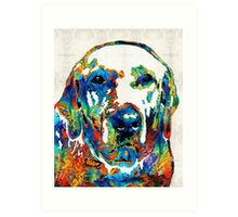 Labrador Retriever Art - Play With Me - By Sharon Cummings Art Print