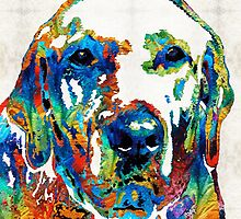 Labrador Retriever Art - Play With Me - By Sharon Cummings by Sharon Cummings