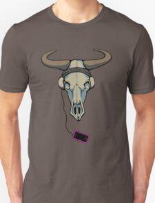 Skull likes music too Unisex T-Shirt