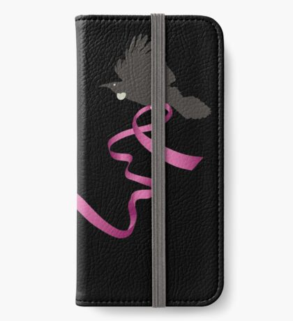 Flying Tui with Pink Ribbon iPhone Wallet/Case/Skin