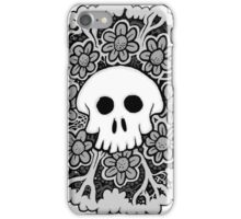 Grey Scale Skull Mandala iPhone Case/Skin