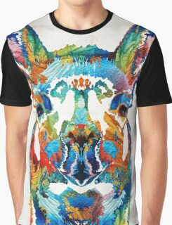 Colorful Llama Art - The Prince - By Sharon Cummings Graphic T-Shirt