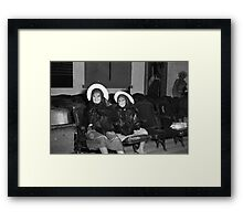 1940s Found Photo Halloween Card - Twin Witches 3 Framed Print
