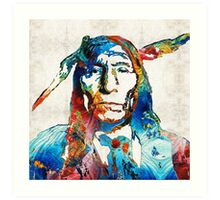 Native American Art - Warrior - By Sharon Cummings Art Print