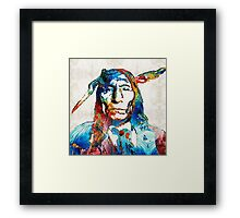 Native American Art - Warrior - By Sharon Cummings Framed Print