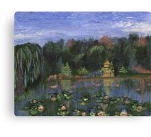 Golden Pagoda Canvas Print