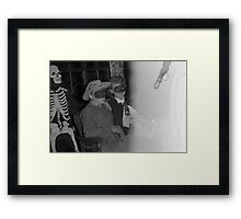 1940s Found Photo Halloween Card - Masked Partiers 13 Framed Print
