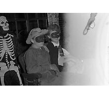 1940s Found Photo Halloween Card - Masked Partiers 13 Photographic Print