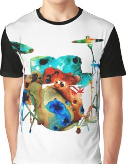 The Drums - Music Art By Sharon Cummings Graphic T-Shirt