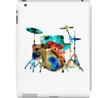 The Drums - Music Art By Sharon Cummings iPad Case/Skin
