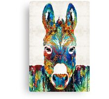 Colorful Donkey Art - Mr. Personality - By Sharon Cummings Canvas Print