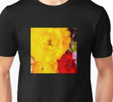 Vibrant Flowers - Yellow flowers and red flower Unisex T-Shirt