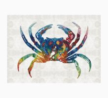 Colorful Crab Art By Sharon Cummings Kids Tee