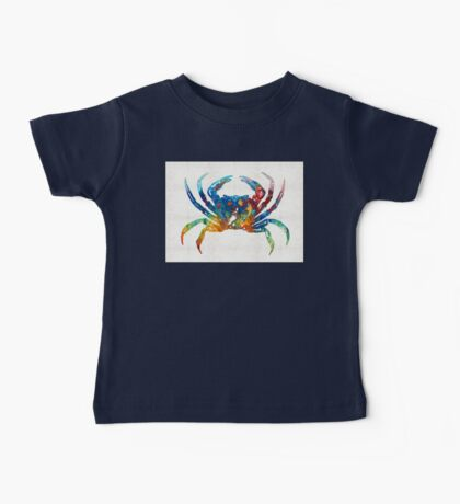 Colorful Crab Art By Sharon Cummings Baby Tee