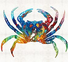 Colorful Crab Art By Sharon Cummings by Sharon Cummings