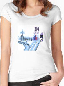 OK Computer Pixel Art Women's Fitted Scoop T-Shirt