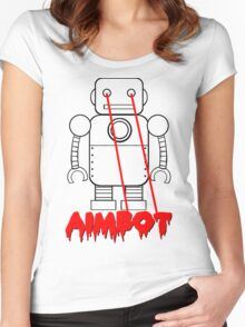 aimbot robot - personal request Women's Fitted Scoop T-Shirt