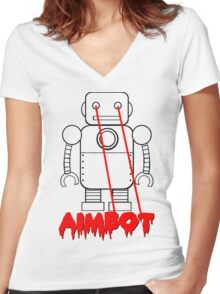 aimbot robot - personal request Women's Fitted V-Neck T-Shirt