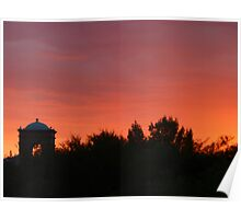 Red Sunset in Arizona Poster